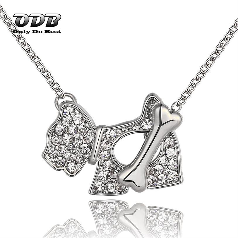 Women Pendant Necklace Dog and Bone 925 Sterling Silver Cheap Fashion Jewelry Necklace & Pendant for Women INSN773(China (Mainland))