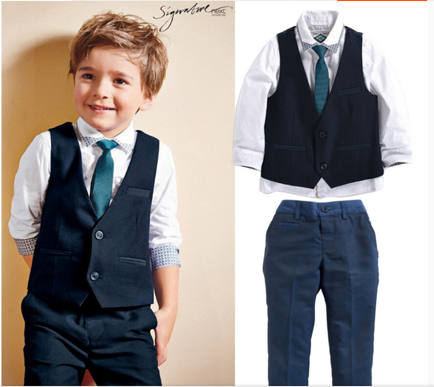 4pcs Boys Suits For Weddings Formal Turn-down Collar Boy Blazer Suit Boys Single Breasted Boys Wedding Clothes Childrens Sets<br><br>Aliexpress