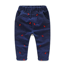 2015 autumn boys new styles cartoon print casual pants kids fashion all-match long trousers  KZ-7222(China (Mainland))