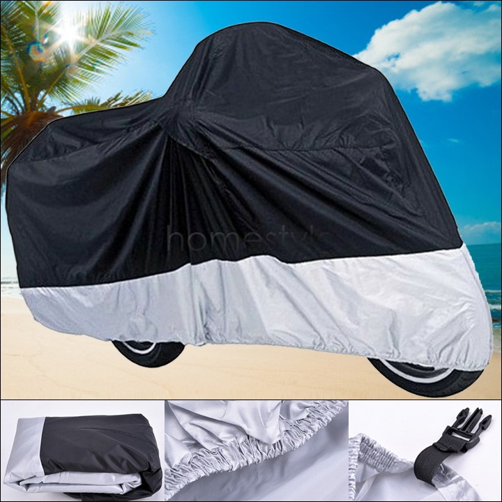 Motorcycle Bike Moped Scooter Cover Dustproof Waterproof Rain UV resistant Dust Prevention Covering Size XXL 265*105*125cm 52(China (Mainland))