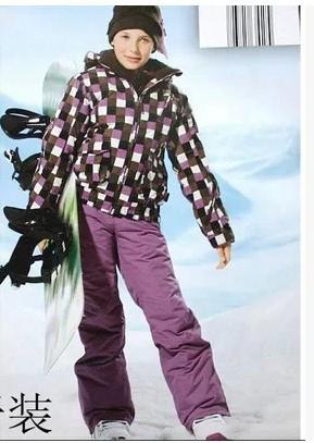 Winter Kids'girls Ski Suits set, Skiing Pants Jacket Waterproof, Coat Trouser Windproof k19 - Chuck Zarek store