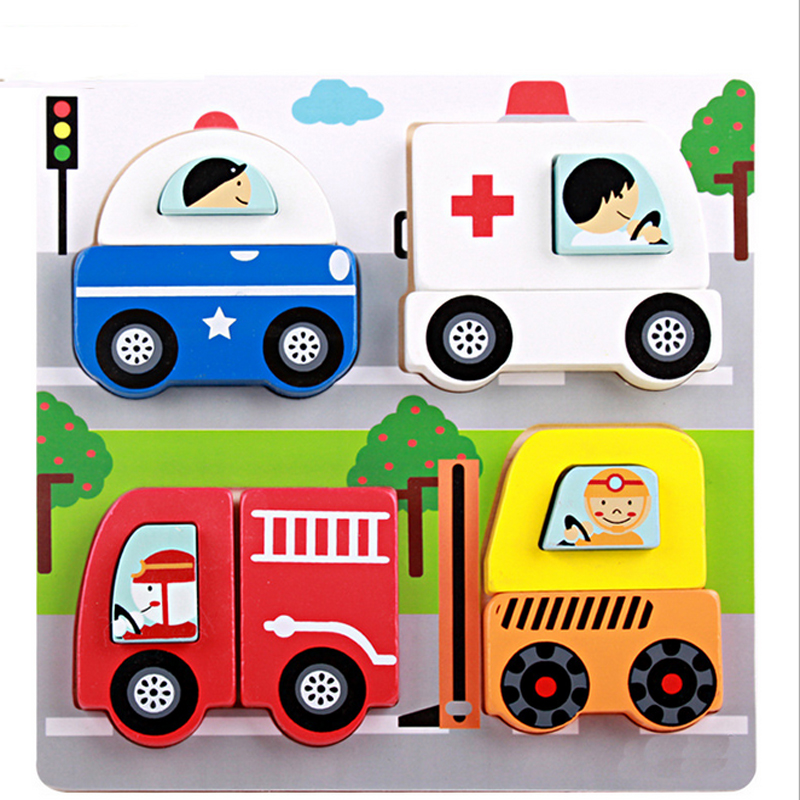 Wooden 3D Puzzle Jigsaw Wooden Toys For Children Kids Cartoon Animal Puzzle Intelligence Educational Toy Toys(China (Mainland))