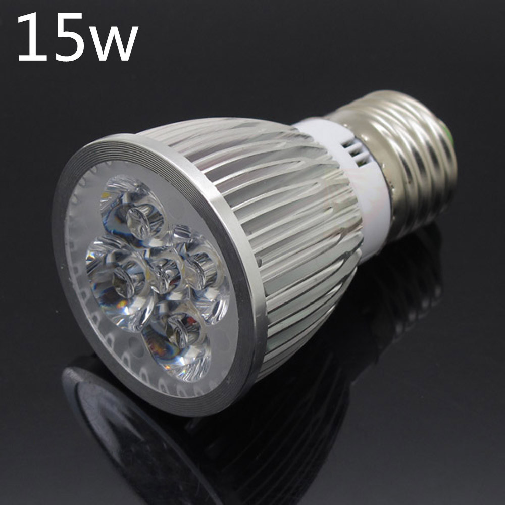 High Power E27 LED Spotlight Dimmable 9W 12W 15W Spot Light AC 85-265V Bulbs Ceiling Lamp Replace Halogen Warm/Cold White(China (Mainland))