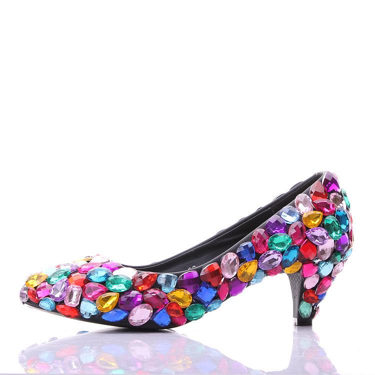 Colorful Kitten Heels