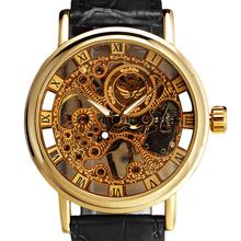 Men ' s ultra-delgada Gorgeous hueco de oro Carve Dial mecánico de lujo del reloj reloj 5V87
