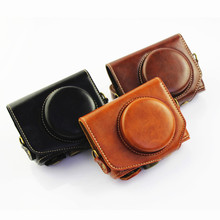 New PU Leather Case Bag Cover for Canon G7X Digital Camera +Strap free shipping