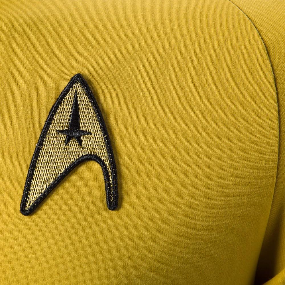 Cosplay Star Trek TOS The Original Series Kirk Shirt Uniform Costume Halloween Yellow Costume (4)