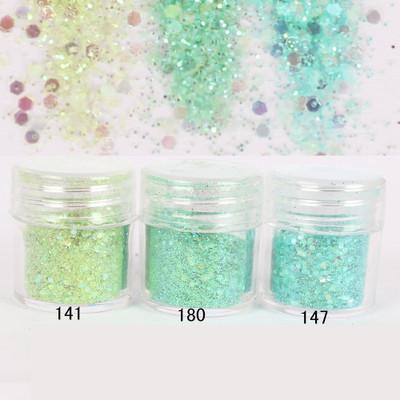 1 Box Nail Glitter Green Glitter Powder Dazzling Sequins Powder Sheets Tips Nail Art Decoration Nail Art Glitter 8234109(China (Mainland))