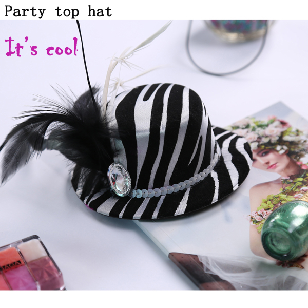 Party decoration novelty mini top hat of wedding favor bride gift bridesmaid invitation fir women dress in hen party(China (Mainland))