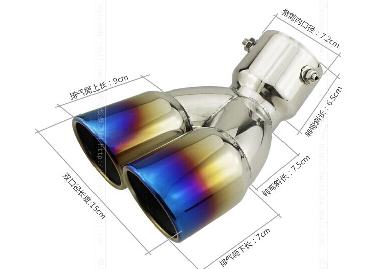 For Kia Sportage R 2011 -2014 Dual exhaust Stainless Steel Exhaust Muffler Tip End Pipe 1pcs<br><br>Aliexpress