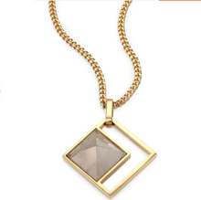 Momo Goldplted Long Box Resin Pendant necklace  new sweater chain Collares Jewlery