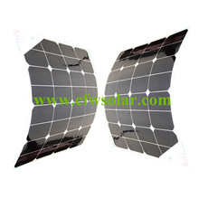flexible solar panel 100W(2*50W), rechargeable solar battery with 0.9M cable MC4 connector, 12V battery solar charger.