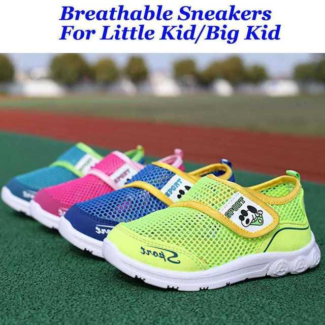 Новая девушка в мальчика сетки дышащий кроссовки обувь для детей немного большие ...