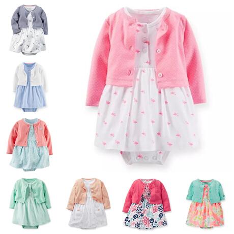 Carters Newborn 3 6 9 12 18 24 Months Cardigan & Dress Set