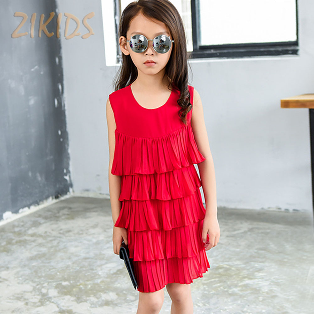 Layered Dress Girls Clothing Summer Flower Girl Dresses for Party Evening Cute Tiered Brands Kids Clothes Children Costume(China (Mainland))