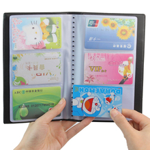 Newest Portable 60 Cards Leather Business Name ID Credit Card Holder Keeper Organizer Book ZH275