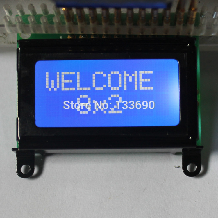8x2 STN Blue White character 0802 lcd module HD44780 or SPLC780 Controller mini LCD 8*2 LCD display(China (Mainland))
