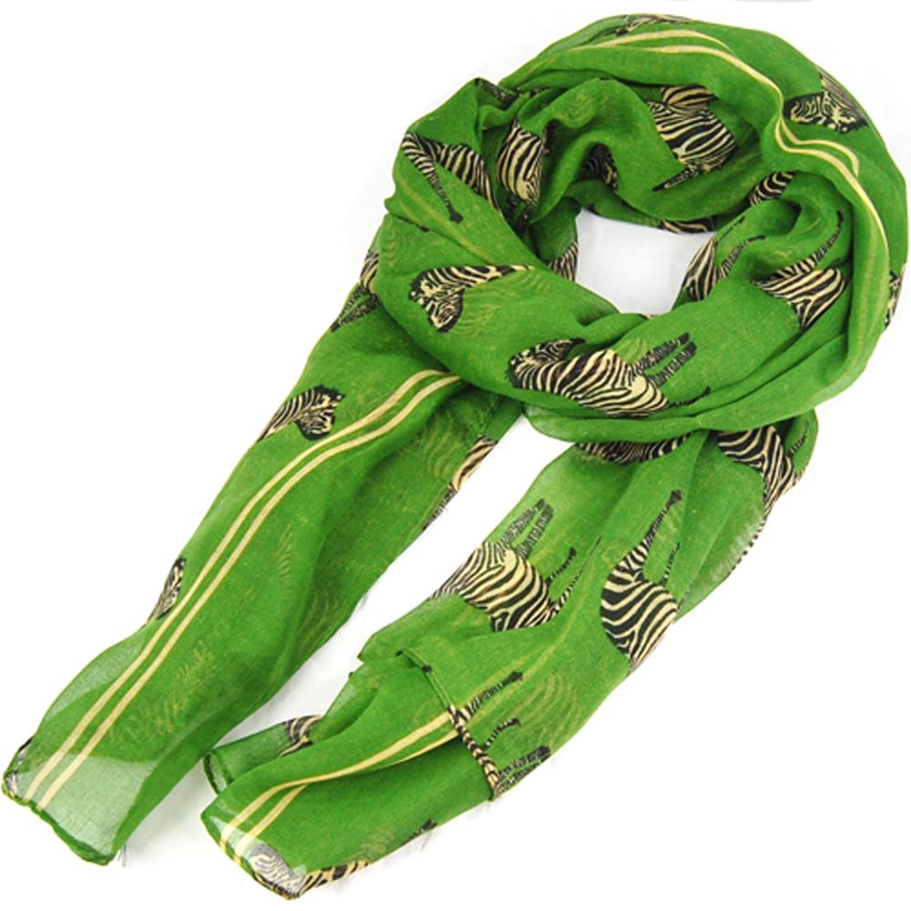 HOT SALE!Green Zebra Pattern Print Large Big Scarf Shawl Sarong Soft Celebrity Scarf Gift(China (Mainland))