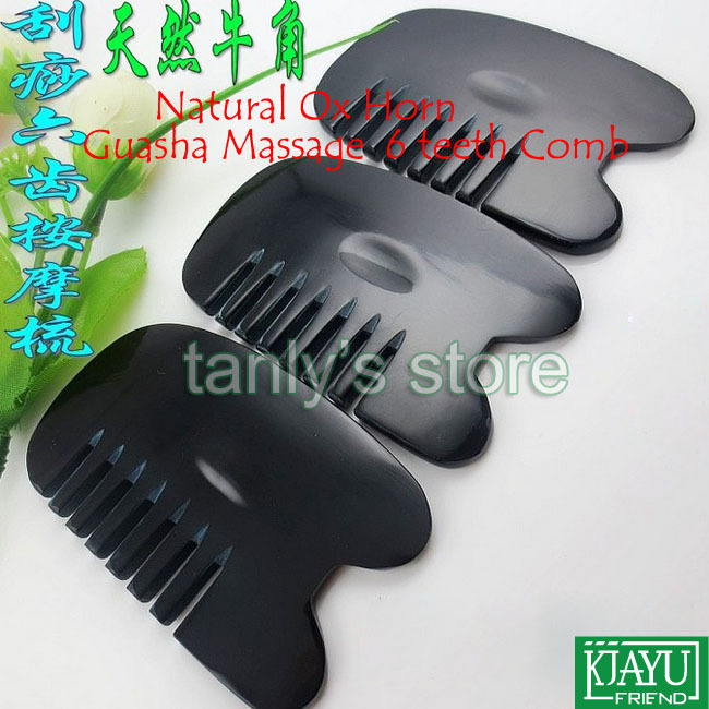Free shipping! 20 pieces/lot Beauty face Massager head back Guasha comb/100% Ox Horn/Scrapping therapy <br><br>Aliexpress