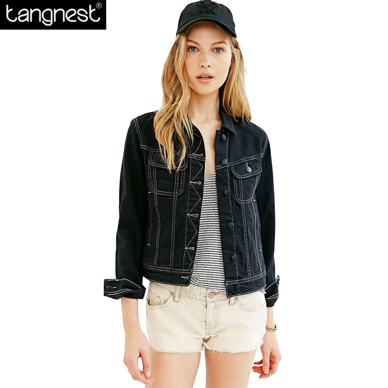High Quality Womens Black Denim Jean Jacket Promotion-Shop for ...