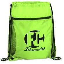 20 Colors Mens 210D Polyester Drawstring Bag Backpack Zipper Portable Sports Pack Gym Bag Custom Rucksack Poke Vkystar 242