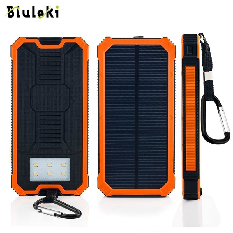 2016 new arrival 15000mah hot power bank solar panel external battery camping charger portable powerbank led light for xiaomi