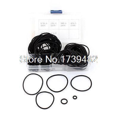 160 Pcs 1.9mm 6 Kinds Flexible Black Rubber Oil Filter Seal O Rings Set w Box(China (Mainland))
