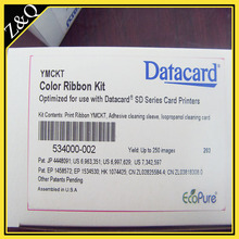 Datacard 534000-002 Color Ribbon & Cleaning Kit – YMCKT – 250 prints for use with datacard card printers