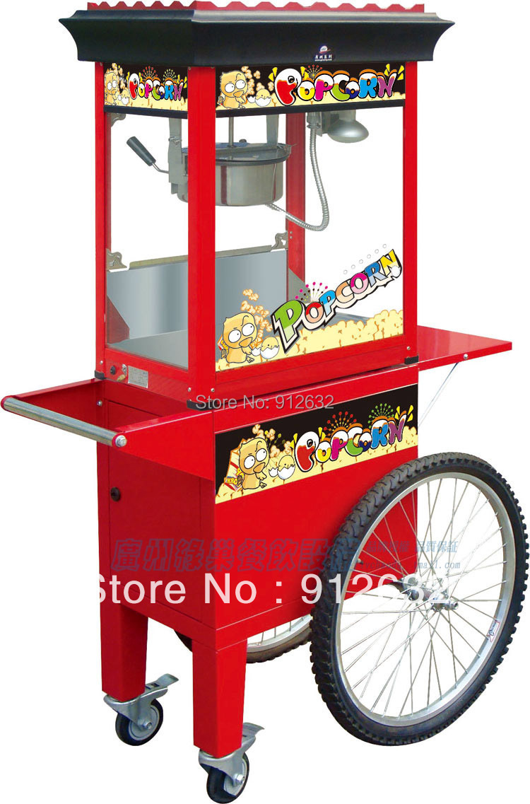 Electric popcorn making machine,  commercial popcorn maker cart, 2 cartons of shipping Oceanship<br><br>Aliexpress