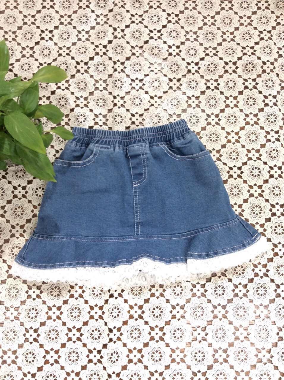 2016 Baby Girls Denim Lace skirts Babies Spring Wash Blue Skirt Kids Girl Fashion Jean Mini Skirt Childrens Clothing<br><br>Aliexpress