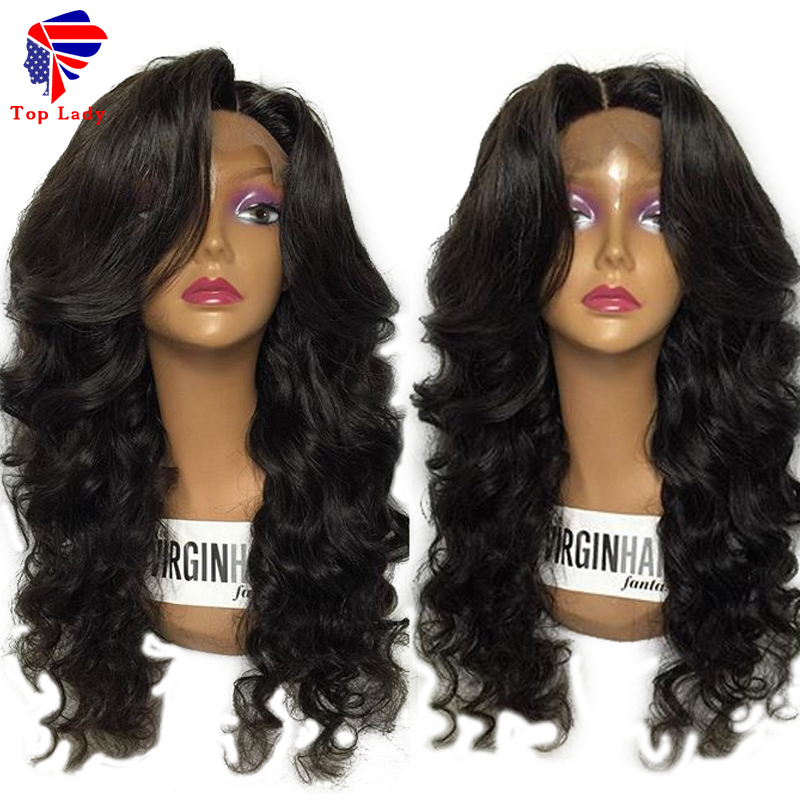 Best Virgin Glueless Full Lace Wigs Brazilian Loose Body Wave Human Hair Lace Front Wigs With Natural Hairline For Black Women<br><br>Aliexpress
