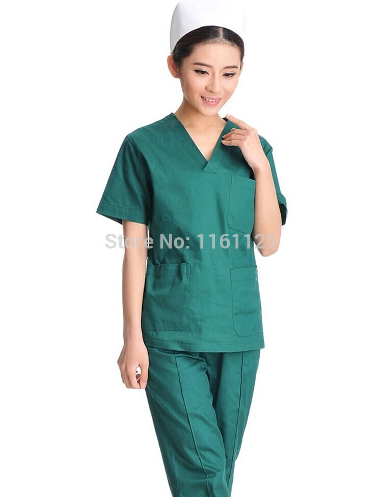 2015 Promotion Jalecos Surgical Cap Summer Short Sleeve Color Medical Uniform Women In Scrub Set for Work Hospital Good Quality(China (Mainland))