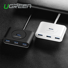 Ugreen Super Speed 4 Port USB HUB 3.0 Portable OTG HUB USB Splitter with LED Lamp New for Apple Macbook Air Laptop PC Tablet(China (Mainland))