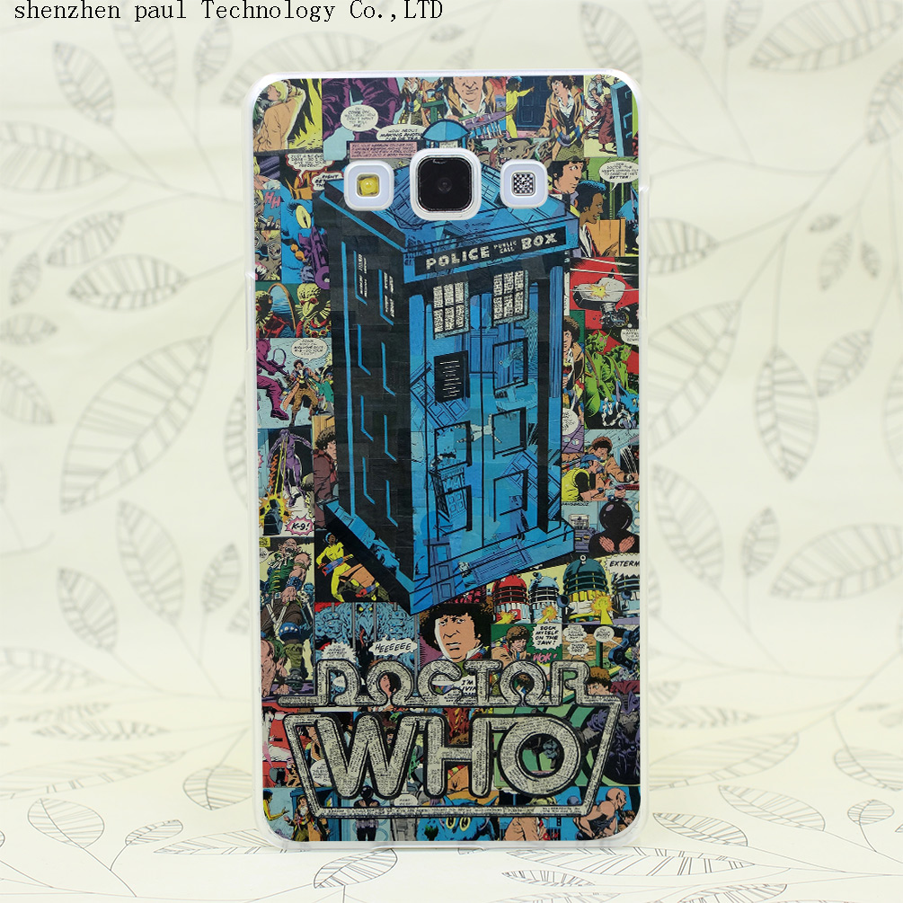 1320W NEW Retro Doctor Who Comic Book P Hard Transparent Case Cover for Galaxy A3 A5 A7 A8 Note 2 3 4 5 J5 J7 Grand 2 Prime(China (Mainland))