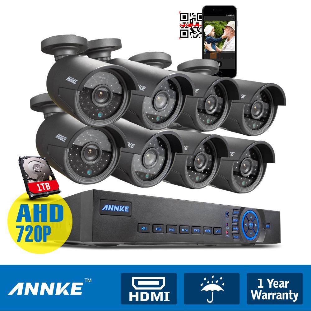 ANNKE 8CH HDMI CCTV DVR 720P Video Security Camera System Home Surveillance 1TB(China (Mainland))