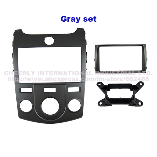 Double Din Car Dash Mount Kit For Kia Forte Cerato Manual Stereo Cd Gps Panel Face Plate Frame