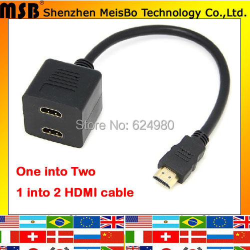 OFC 20CM 1080p One 1 of 2 HDMI Adapter Sub-line HDMI Cable Male to female HDMI converter for TV<br><br>Aliexpress