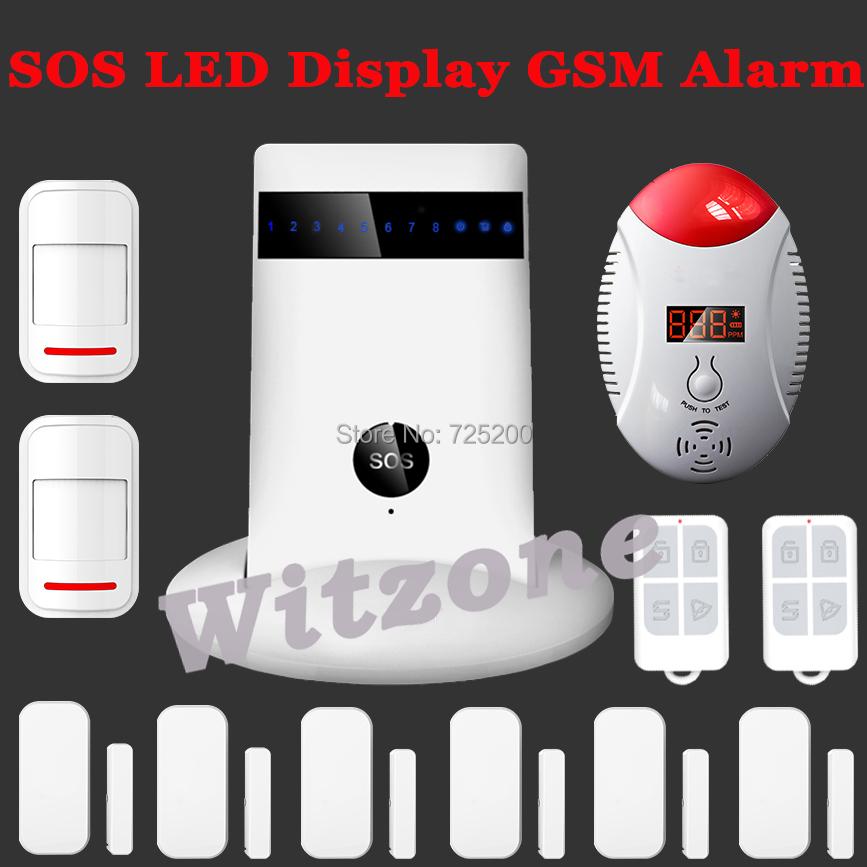 KR-G15 Android IOS APP Remote Control Arm/Disarm Wireless Auto-dial House Intruder Home Secure GSM Alarm System CO Gas Detector(China (Mainland))
