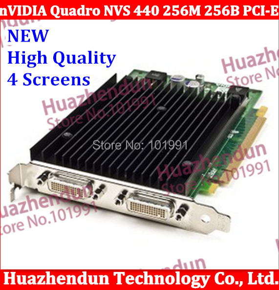 New Workstation Professional Video Card nVIDIA Quadro NVS440 256M 256B PCI-E FOR 4 Screens NVS 440(China (Mainland))