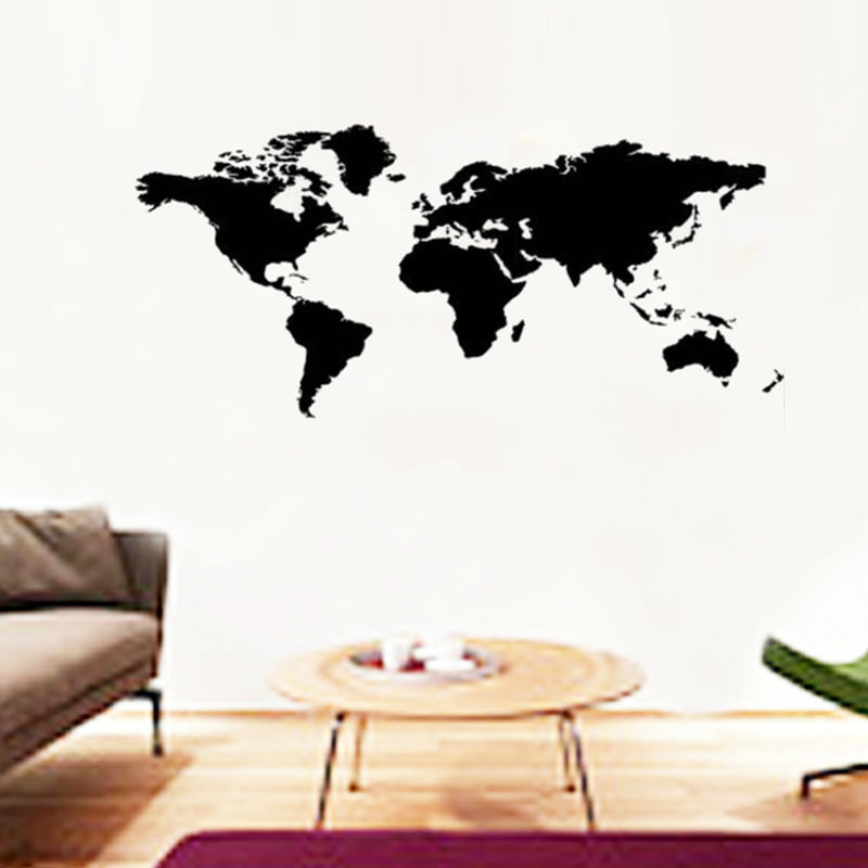 200x90cm large world map wall stickers office living room decorations 1103 diy vinyl adesivo de paredes home decals mual art 3.0(China (Mainland))