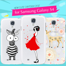 """Silicon Case for Samsung Galaxy S4 i9500 Case Cover 5.0"""" 3D Cartoon Cute Soft Back Phone Cover Fundas for Samsung Galaxy S4 Gel(China (Mainland))"""