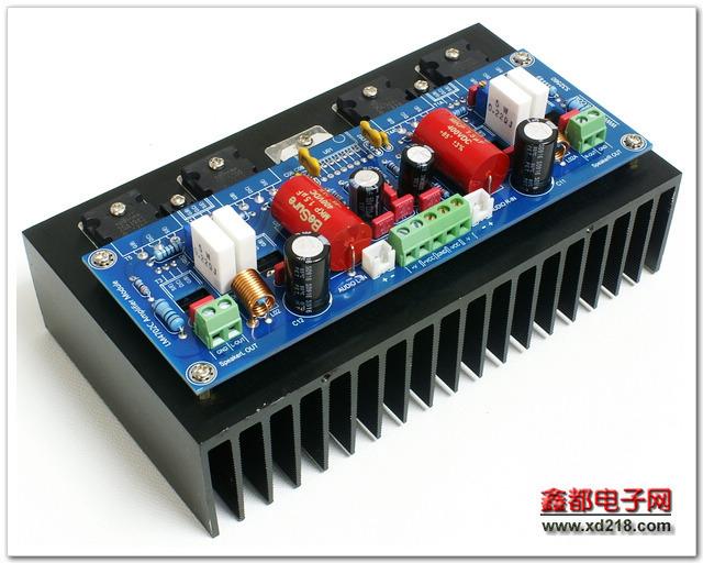 Аудио усилитель DIY 2015 2 Lm4702 + 2 Sa1943 Sc5200 2x100w аудио усилитель mx50 se 100w 100 100wx2 diy