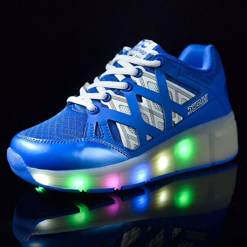 Size 28-42 New Child Heelys Jazzy Junior Girls Boys LED Light Heelys Roller Skate Shoes For Children Kids Sneakers With Wheels<br><br>Aliexpress