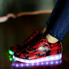 Led shoes for adults women casual canvas shoes 2016