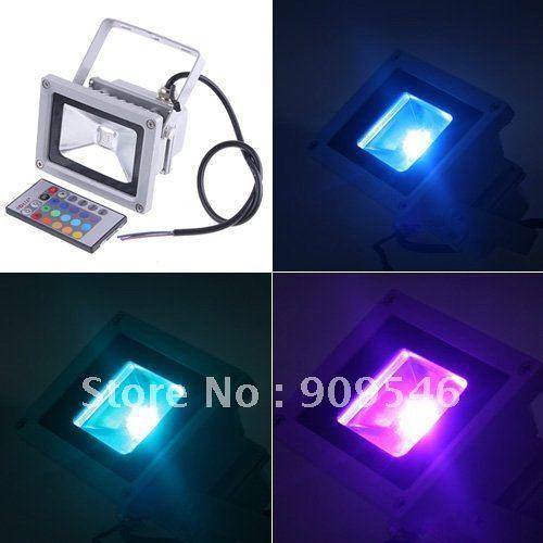 shipping free DHL16 colour change RGB led floodlight 10W / 20w / 30w / 50w rgb led flood light Waterproof IP 65 led streep lamp