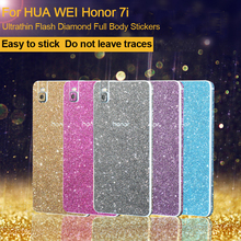 """Buy KUERPooB HuaWei Honor 7i 5.2"""" Sticker Full Body Cover Glitter Ultra-Thin Coque Bling Diamond Back Film Protector Case for $2.70 in AliExpress store"""