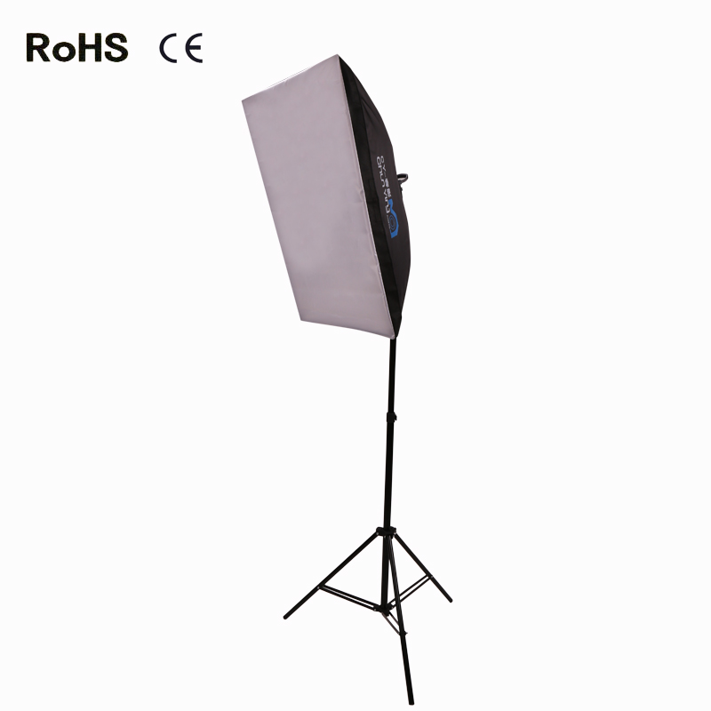 50 cm *70 cm Photo Studio continuous Lighting Soft box +2.1 m light stand+LED photografic lamp(China (Mainland))