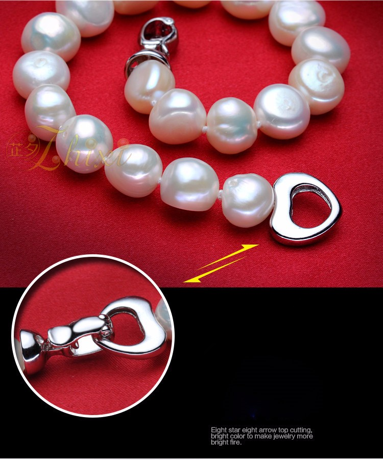 HTB1LsXMKFXXXXXfXFXXq6xXFXXX1 - [ZHIXI] Pearl Jewelry Fine Freshwater Pearl Necklace Natural Baroque Pearl Necklace 9-10mm White Stone Choker For Women X1009