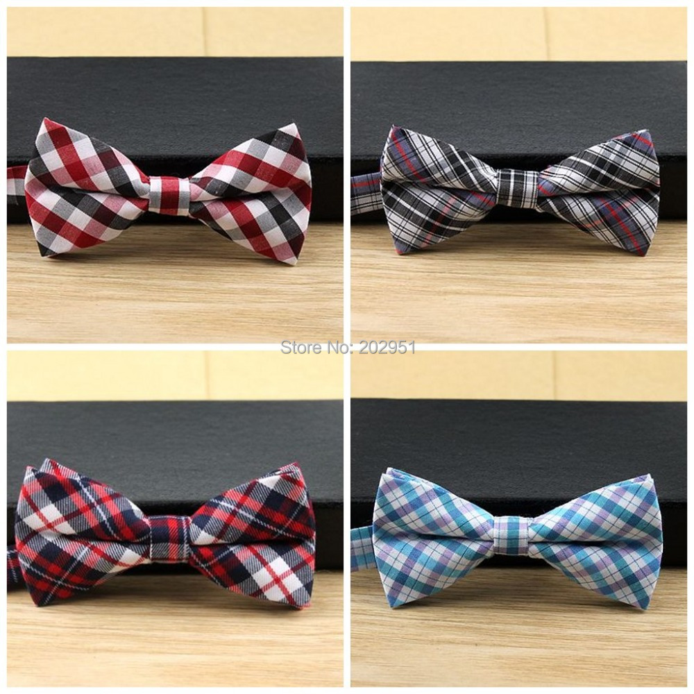 Retail 5*9cm Cute Plaid cotton kids boys girls Children Pre-tied Bow Tie bowtie more design ,Freeshipping(China (Mainland))