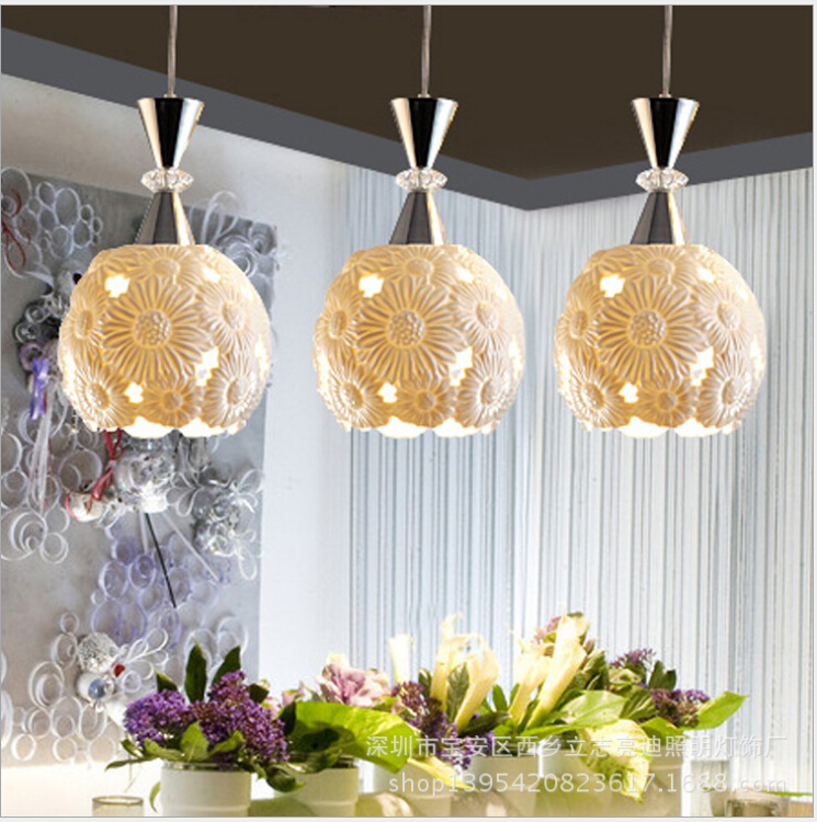 modern chinese style ceramics lampshade 3*E27 three heads pendant lamp dining room bar restaurant  decoration lamp DY-1203<br><br>Aliexpress